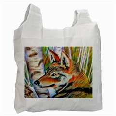Wolfpastel Recycle Bag (one Side) by LokisStuffnMore
