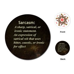 Sarcasm  Playing Cards (Round)