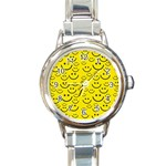 Smiley Face Round Italian Charm Watch