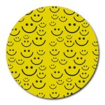 Smiley Face Round Mousepad
