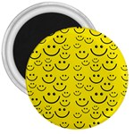 Smiley Face 3  Magnet