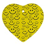 Smiley Face Ornament (Heart)
