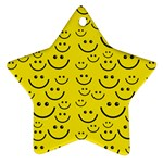 Smiley Face Ornament (Star)