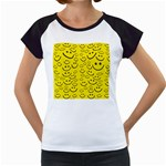 Smiley Face Women s Cap Sleeve T