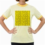 Smiley Face Women s Fitted Ringer T-Shirt