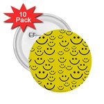 Smiley Face 2.25  Button (10 pack)