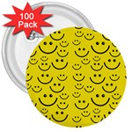 Smiley Face 3  Button (100 pack)