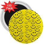 Smiley Face 3  Magnet (100 pack)