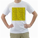 Smiley Face Men s T-Shirt (White) (Two Sided)