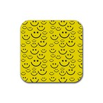 Smiley Face Rubber Square Coaster (4 pack)
