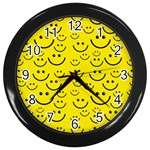 Smiley Face Wall Clock (Black)