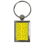 Smiley Face Key Chain (Rectangle)