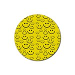 Smiley Face Rubber Round Coaster (4 pack)