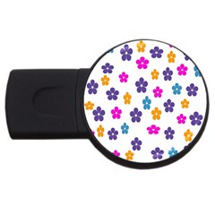 Candy Flowers USB Flash Drive Round (2 GB)  by FashionMeNowwStyle2