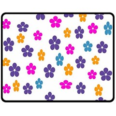 Candy Flowers Fleece Blanket (medium)