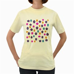 Candy Flowers Women s Yellow T Shirt by FashionMeNowwStyle2