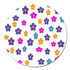 Candy Flowers Magnet 5  (Round) by FashionMeNowwStyle2