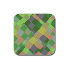 Squares And Other Shapes Rubber Square Coaster (4 Pack) by LalyLauraFLM