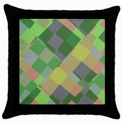 Squares And Other Shapes Throw Pillow Case (black) by LalyLauraFLM