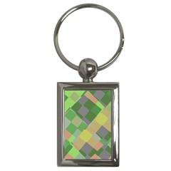 Squares And Other Shapes Key Chain (rectangle) by LalyLauraFLM