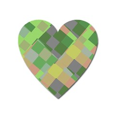 Squares And Other Shapes Magnet (heart) by LalyLauraFLM