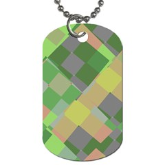 Squares And Other Shapes Dog Tag (one Side) by LalyLauraFLM