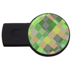 Squares And Other Shapes Usb Flash Drive Round (2 Gb) by LalyLauraFLM