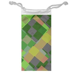 Squares And Other Shapes Jewelry Bag by LalyLauraFLM