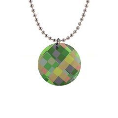 Squares And Other Shapes 1  Button Necklace by LalyLauraFLM