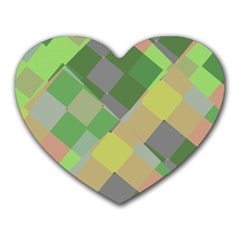 Squares And Other Shapes Heart Mousepad by LalyLauraFLM