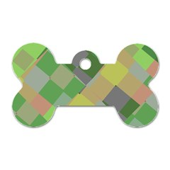 Squares and other shapes Dog Tag Bone (One Side) by LalyLauraFLM