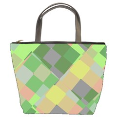 Squares And Other Shapes Bucket Bag by LalyLauraFLM