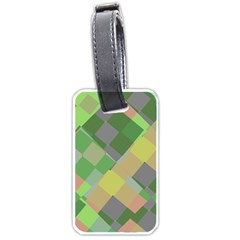 Squares And Other Shapes Luggage Tag (two Sides) by LalyLauraFLM