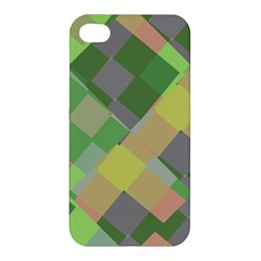 Squares And Other Shapes Apple Iphone 4/4s Premium Hardshell Case by LalyLauraFLM