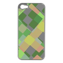 Squares And Other Shapes Apple Iphone 5 Case (silver) by LalyLauraFLM