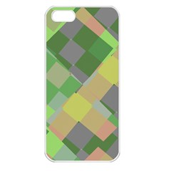Squares And Other Shapes Apple Iphone 5 Seamless Case (white) by LalyLauraFLM