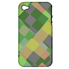 Squares And Other Shapes Apple Iphone 4/4s Hardshell Case (pc+silicone) by LalyLauraFLM