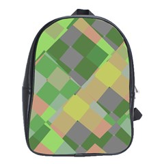 Squares And Other Shapes School Bag (xl) by LalyLauraFLM