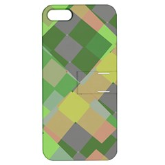 Squares And Other Shapes Apple Iphone 5 Hardshell Case With Stand by LalyLauraFLM