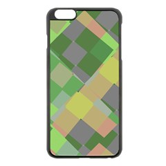 Squares And Other Shapes Apple Iphone 6 Plus Black Enamel Case by LalyLauraFLM