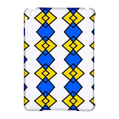 Blue Yellow Rhombus Pattern Apple Ipad Mini Hardshell Case (compatible With Smart Cover) by LalyLauraFLM