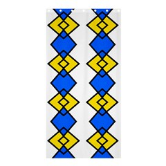 Blue Yellow Rhombus Pattern	shower Curtain 36  X 72  by LalyLauraFLM