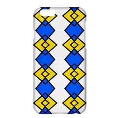 Blue Yellow Rhombus Pattern	apple Iphone 6 Plus Hardshell Case by LalyLauraFLM