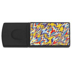 Colorful Chaos Usb Flash Drive Rectangular (4 Gb) by LalyLauraFLM