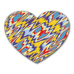 Colorful Chaos Heart Mousepad by LalyLauraFLM