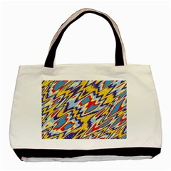 Colorful Chaos Basic Tote Bag (two Sides) by LalyLauraFLM