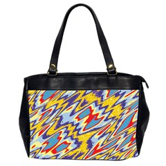 Colorful Chaos Oversize Office Handbag (2 Sides) by LalyLauraFLM