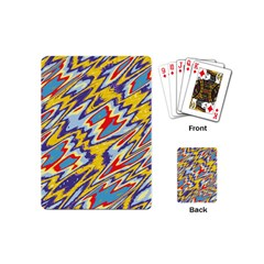 Colorful Chaos Playing Cards (mini) by LalyLauraFLM