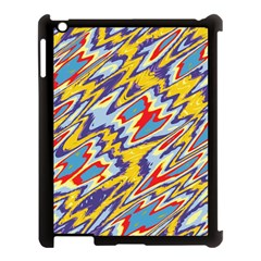 Colorful Chaos Apple Ipad 3/4 Case (black) by LalyLauraFLM