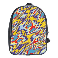 Colorful Chaos School Bag (xl) by LalyLauraFLM